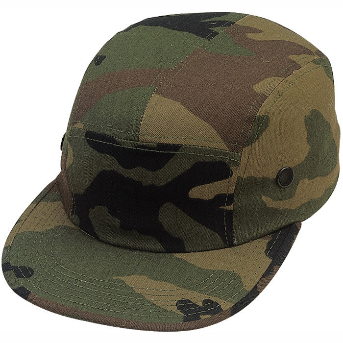 Woodland Camouflage - Military Style Urban Street Cap - Polyester Cotton