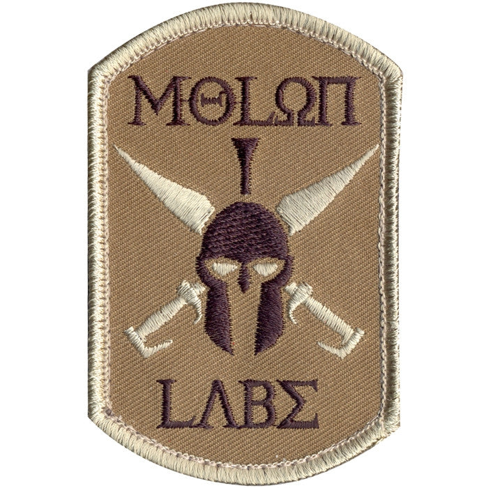 MOLON LABE Patch with Hook Back