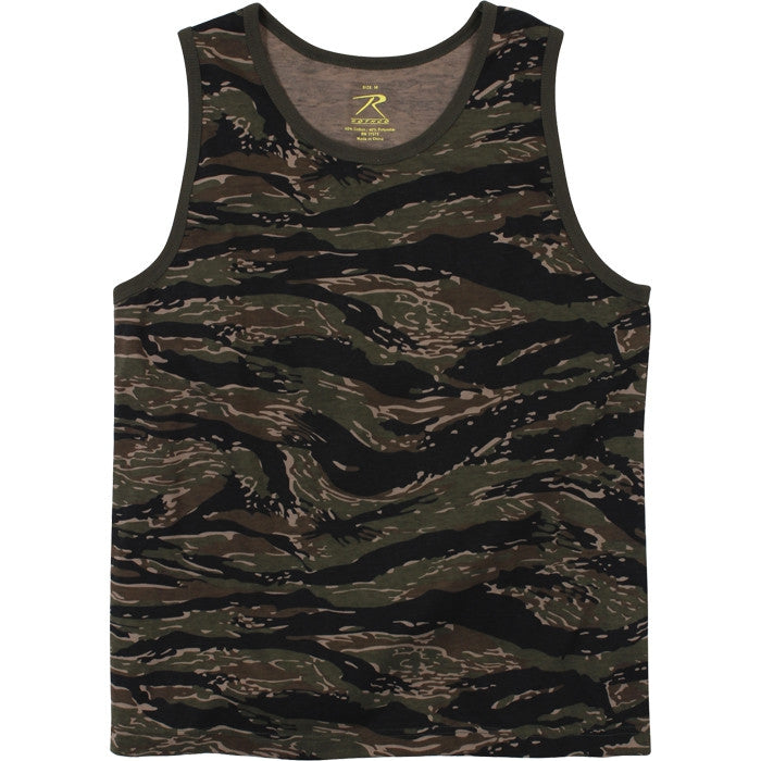 Tiger Stripe Camouflage - Vintage Military Tank Top