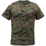 Digital Woodland Camouflage - Kids Military T-Shirt