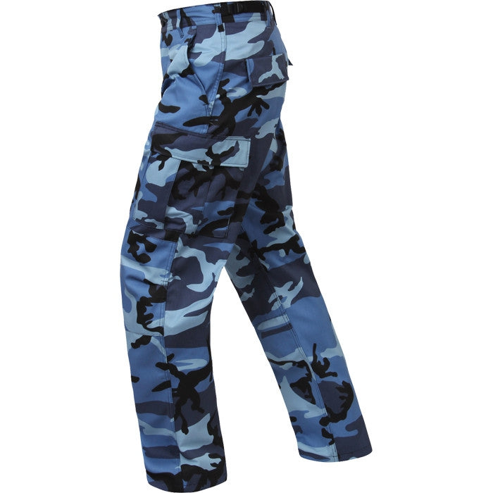... Sky Blue Camouflage - Military BDU Pants - Polyester Cotton Twill ... f26fd129bfe