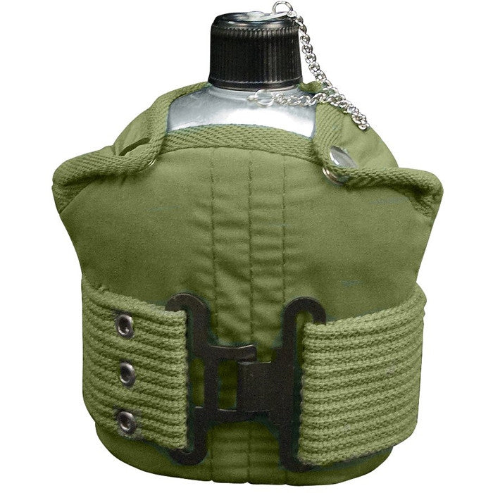 Aluminum Canteen with Olive Drab Pistol Belt Kit