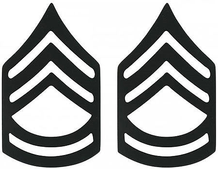 Subdued - Military Sergeant First Class Pin-On Insignia Pair SFC