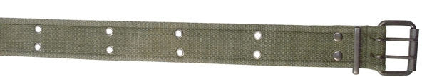 Olive Drab - Military GI Vintage Style Pistol Belt - Cotton