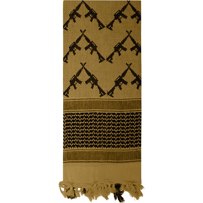 Coyote Brown - Crossed Rifles Shemagh Tactical Desert Scarf