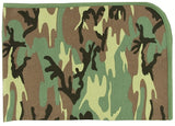 Woodland Camouflage - Military Infant Receiving Blanket