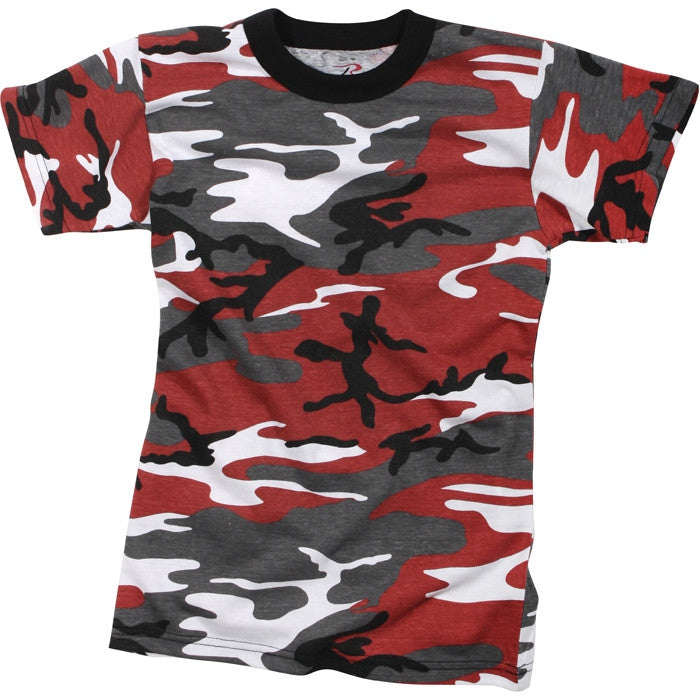 Red Camouflage - Kids Military T-Shirt