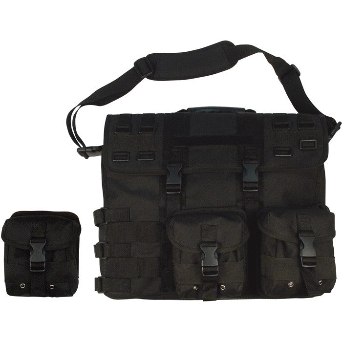 Black - MOLLE Tactical Computer   Briefcase Bag