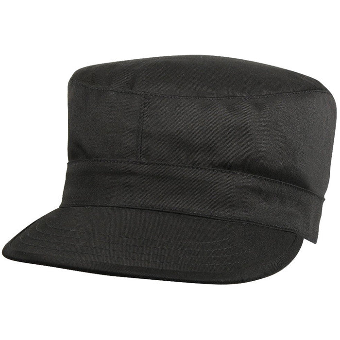 Black - Military Fatigue Cap - Polyester Cotton