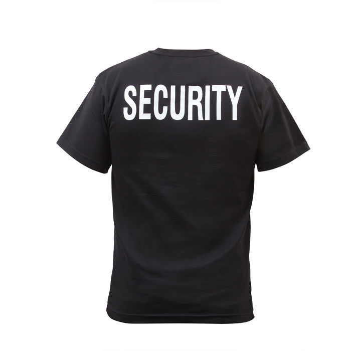 Black - Double Sided Official SECURITY Raid T-shirt