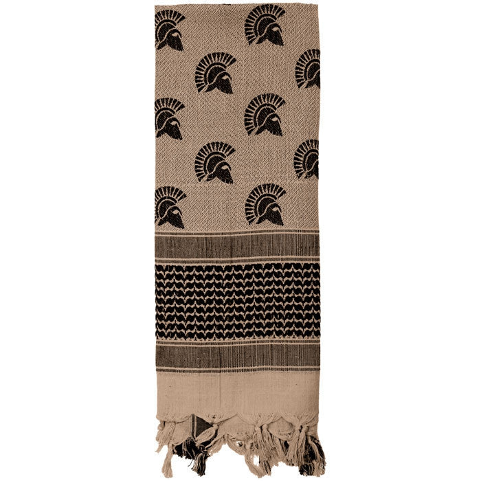 Tan & Black - Spartan Shemagh Tactical Desert Scarf