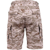 Digital Desert Camouflage - Military Cargo BDU Shorts - Polyester Cotton Twill