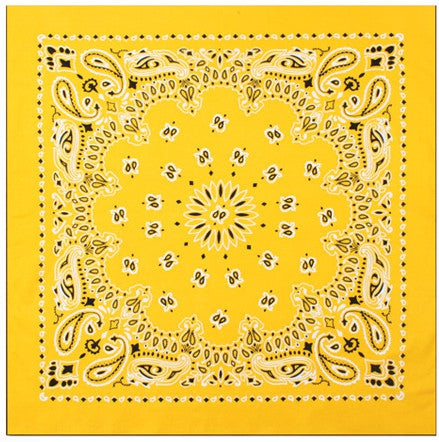 Yellow - Trainmen Bandana 22 in. x 22 in.