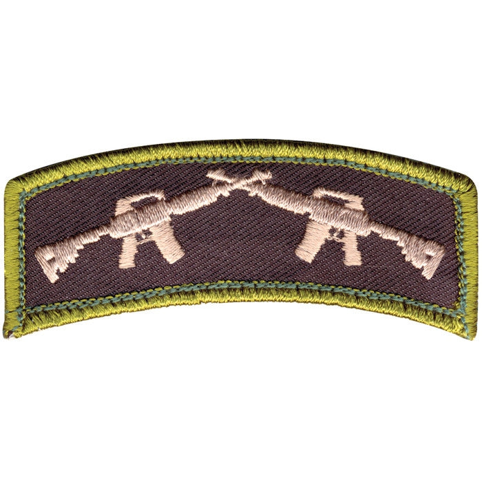 Crossed Rifle Patch with Hook Back