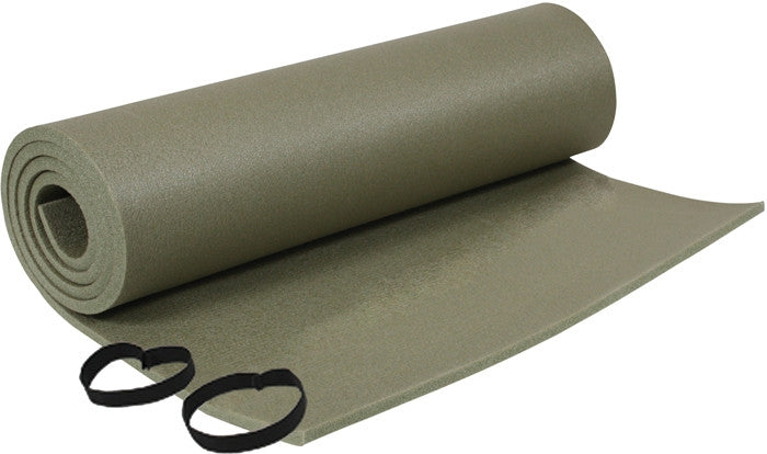 Olive Drab - Genuine GI Foam Sleeping Pad with Ties