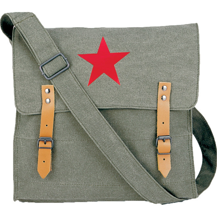 Olive Drab - Classic Medic Shoulder Bag with Red China Star Emblem