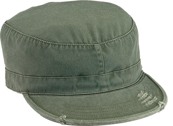 Olive Drab - Military Vintage Fatigue Cap - Cotton Polyester