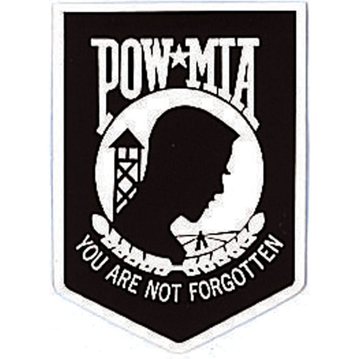 Black - POW MIA Decal with Emblem - Back-Gum