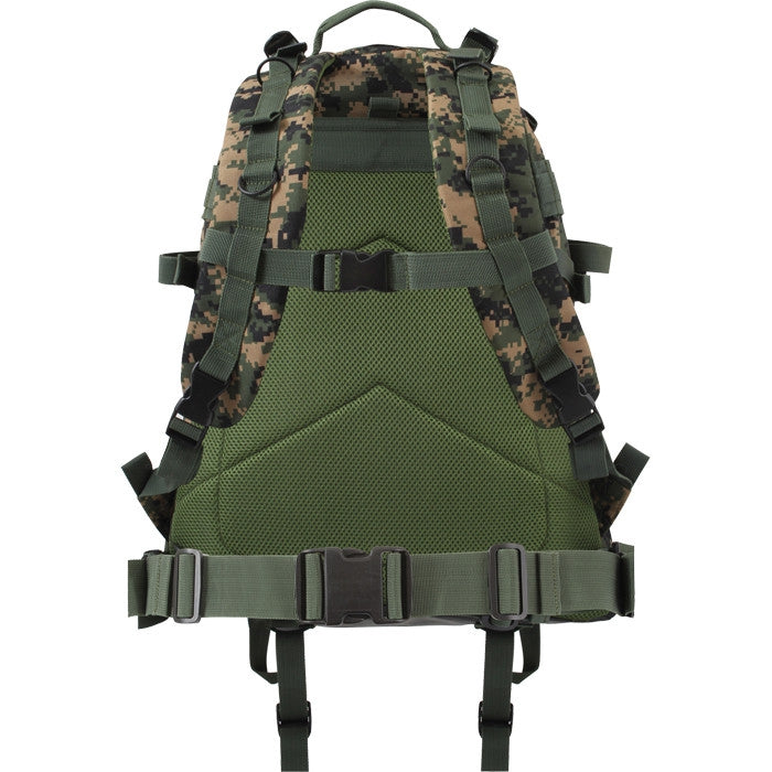 Digital Woodland Camouflage - Military MOLLE Compatible Large Transport Pack