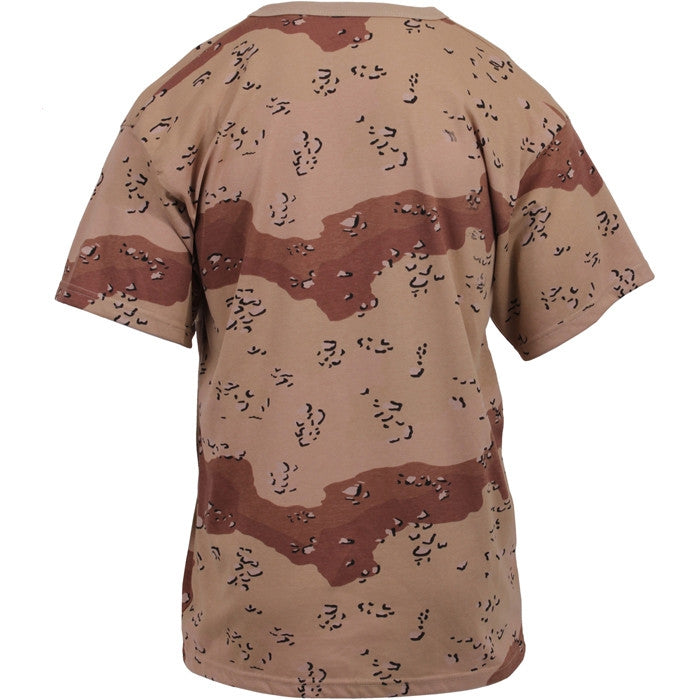 6 Color Desert Camouflage - Military T-Shirt