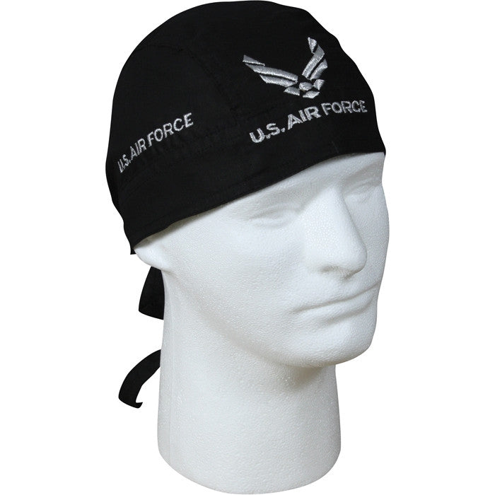 Black - US AIR FORCE Headwrap with US Air Force Emblem