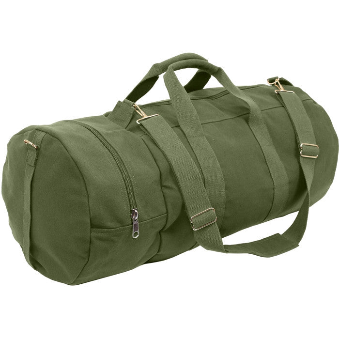 Olive Drab - Military Double-Ender Sports Shoulder Bag - Cotton Canvas