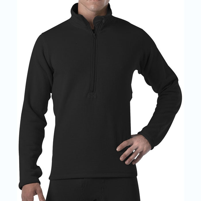 Black - ECWCS Generation III Underwear Zip-Collar Shirt