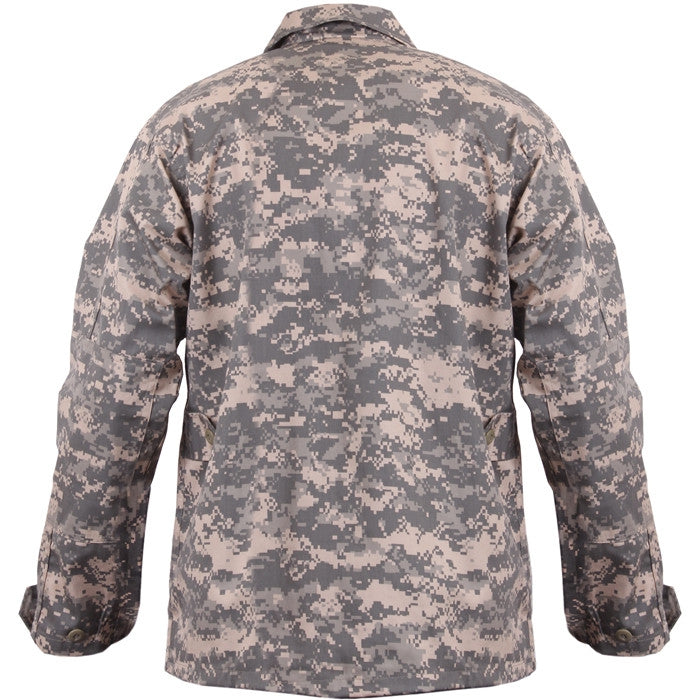 ACU Digital Camouflage - Military BDU Shirt - Cotton Polyester Twill