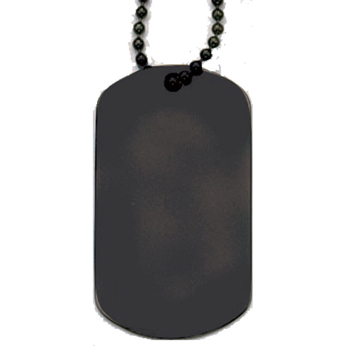 Black - Military GI Style Dog Tag