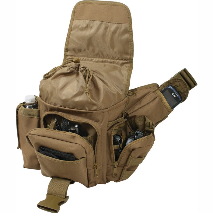 Coyote Brown - Military MOLLE Compatible Advanced Tactical Shoulder Bag