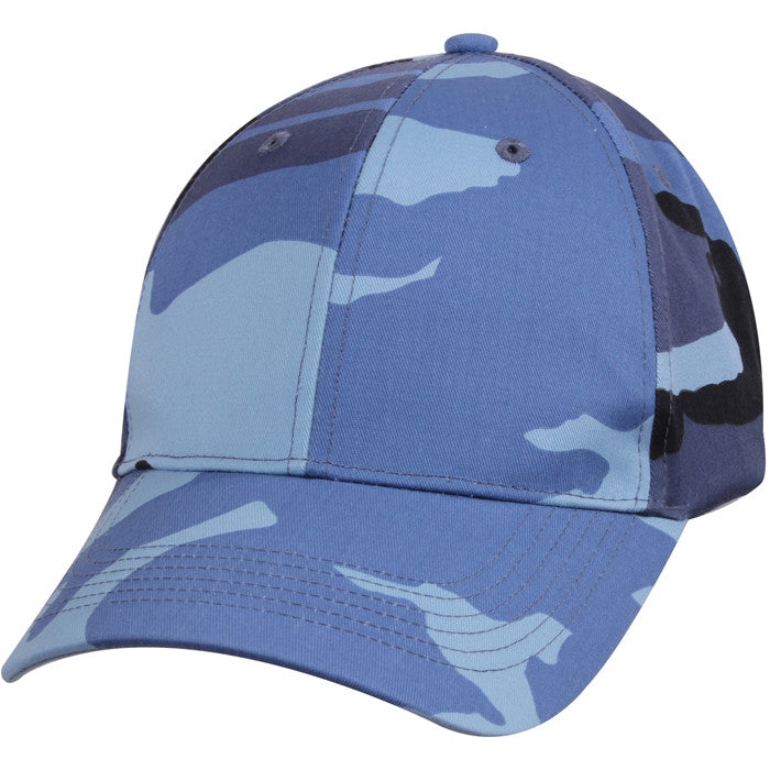 Sky Blue Camouflage - Military Low Profile Adjustable Baseball Cap