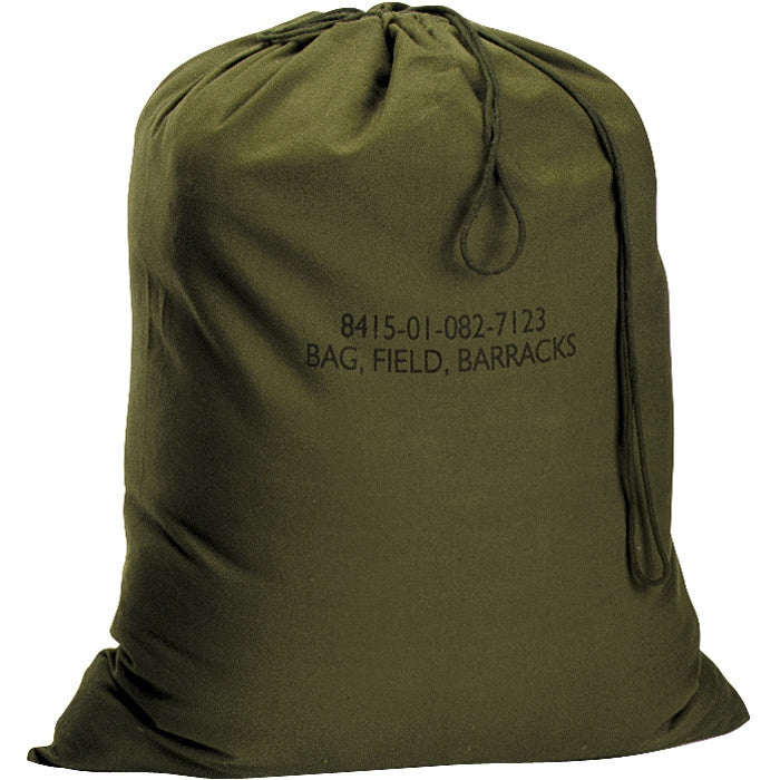 Olive Drab - Military GI Style Jumbo Barracks Laundry Bag - Canvas