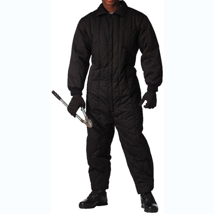 Black - Outdoor Cold Weather Insulated Coveralls