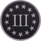 Black & Silver - Three Percenter Patch 3-1/4