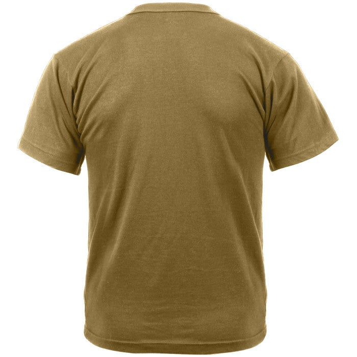 Brown - Military GI Type Short Sleeve T-Shirt - Polyester Cotton