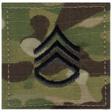 Multicam Camouflage - Military Staff Sergeant Insignia Patch SSG