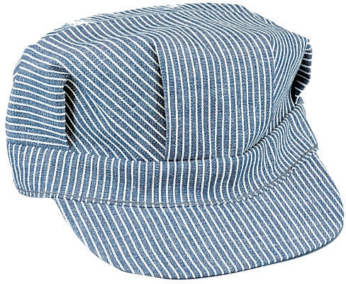 Train Conductor Hat Engineer Cap Hickory Stripe