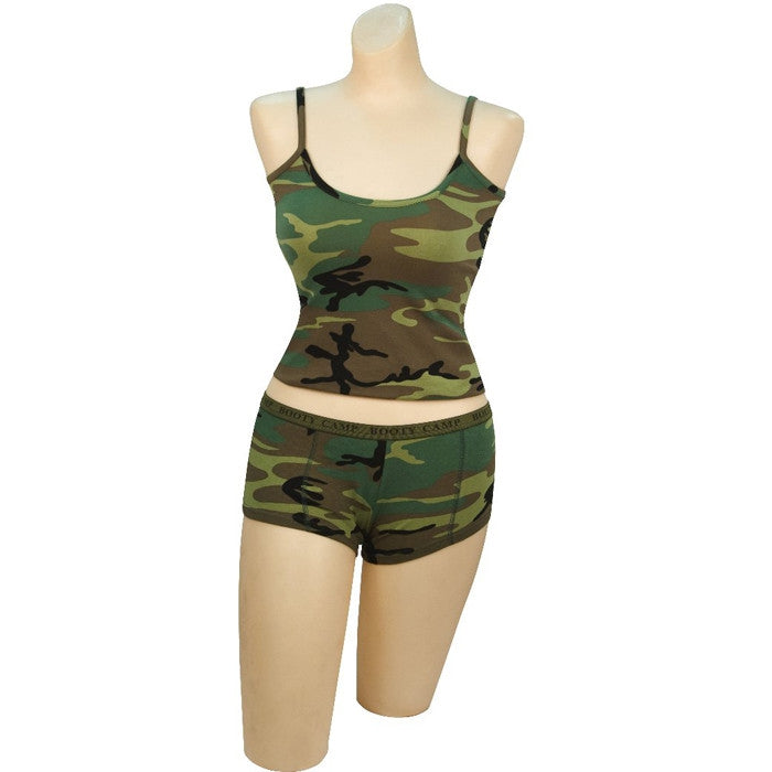 Woodland Camouflage - Womens Slim-Fit Tank Top
