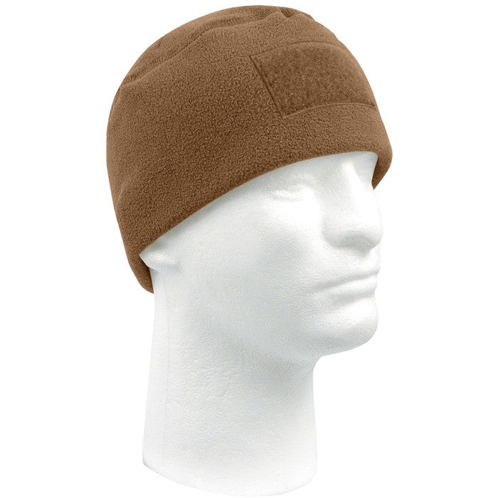 Coyote Brown - Military Polar Fleece Watch Cap with Patch Attachment