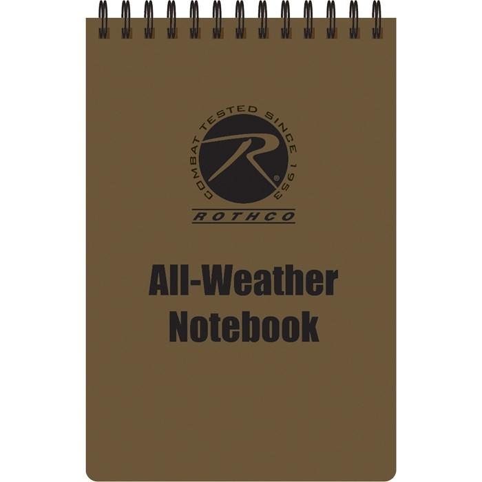 Coyote Brown - All Weather Waterproof Note Pad (4 in. X 6 in.)
