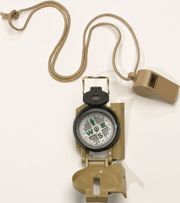 Tan - Military GI Style Marching Compass