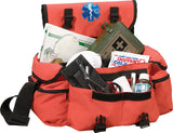 Orange - Public Safety Medical Rescue Response Bag with Star of Life Emblem