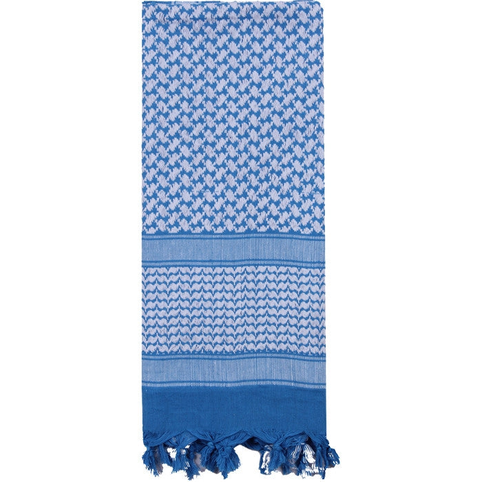 Blue   White- Shemagh Tactical Desert Scarf