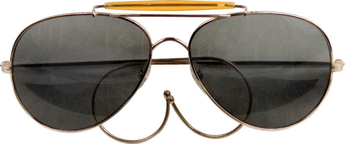 Smoke Lenses - US Air Force Style Aviator Sunglasses