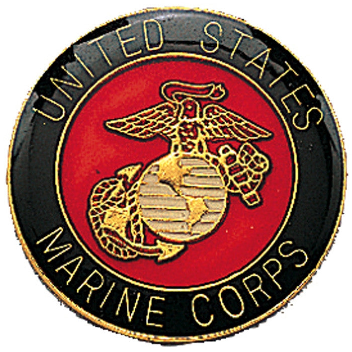 US MARINE CORPS Pin-On Insignia with USMC Emblem