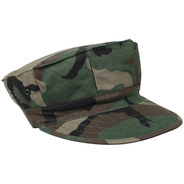 Woodland Camouflage - Marine Corps Fatigue Cap Utility Cover 8 Pointed Cap