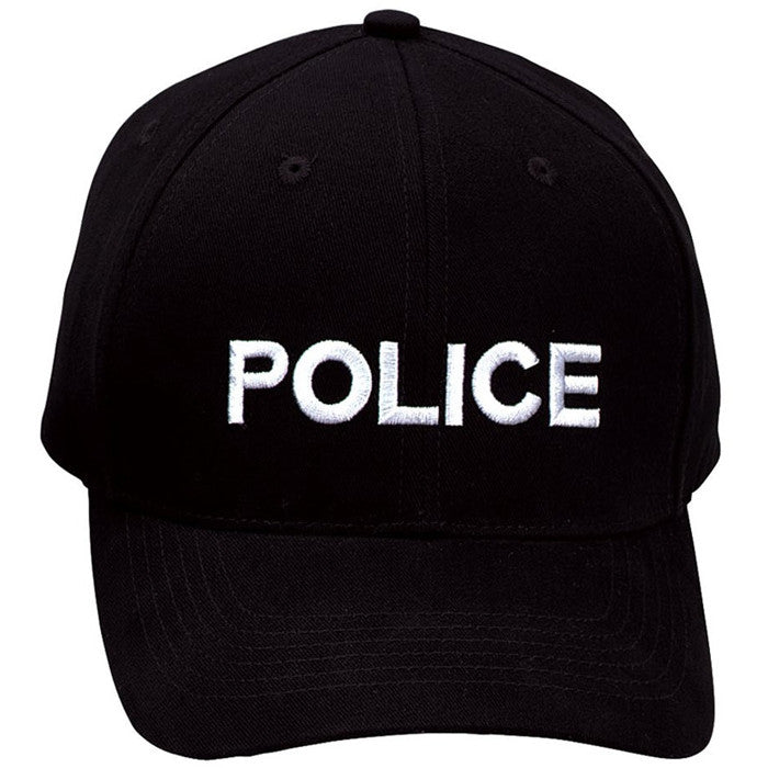 Black - Law Enforcment POLICE Adjustable Cap with White Lettering