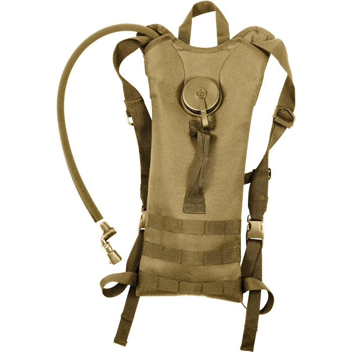 Coyote Brown - Tactical MOLLE Backstrap 3-Liter Hydration System