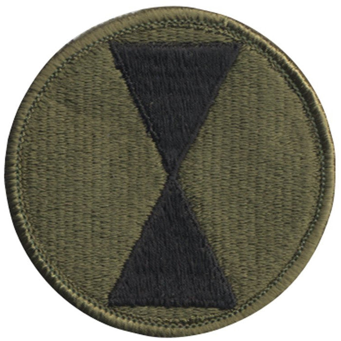 Subdued - US Army 7th Infantry Division Military Patch 2.5 in.