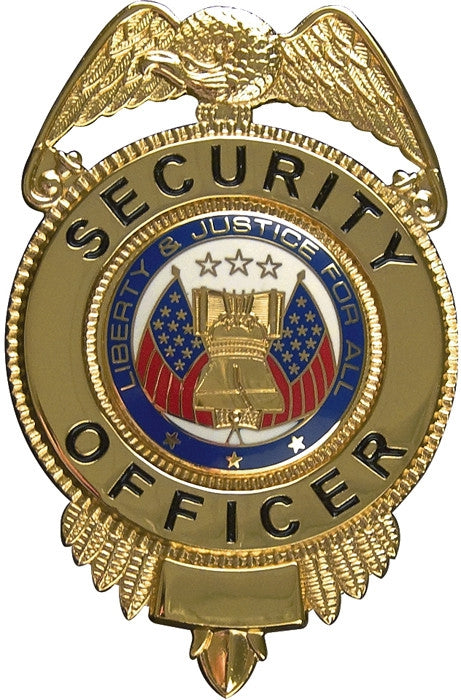 Gold - SECURITY OFFICER LIBERTY & JUSTICE Badge